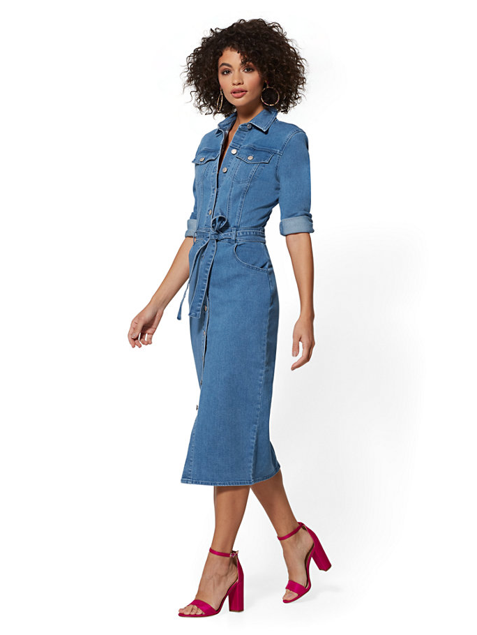15 Best Denim Dresses for Spring 2019 | Denim dress, Denim shirt ...