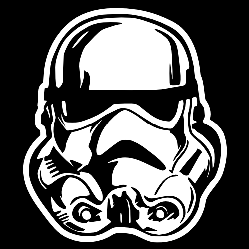 MOPAR Decal  STAR WARS STORMTROOPER Car Truck Window Vinyl Sticker