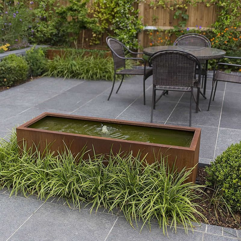 Family Garden living space designed with informal stepping stones and