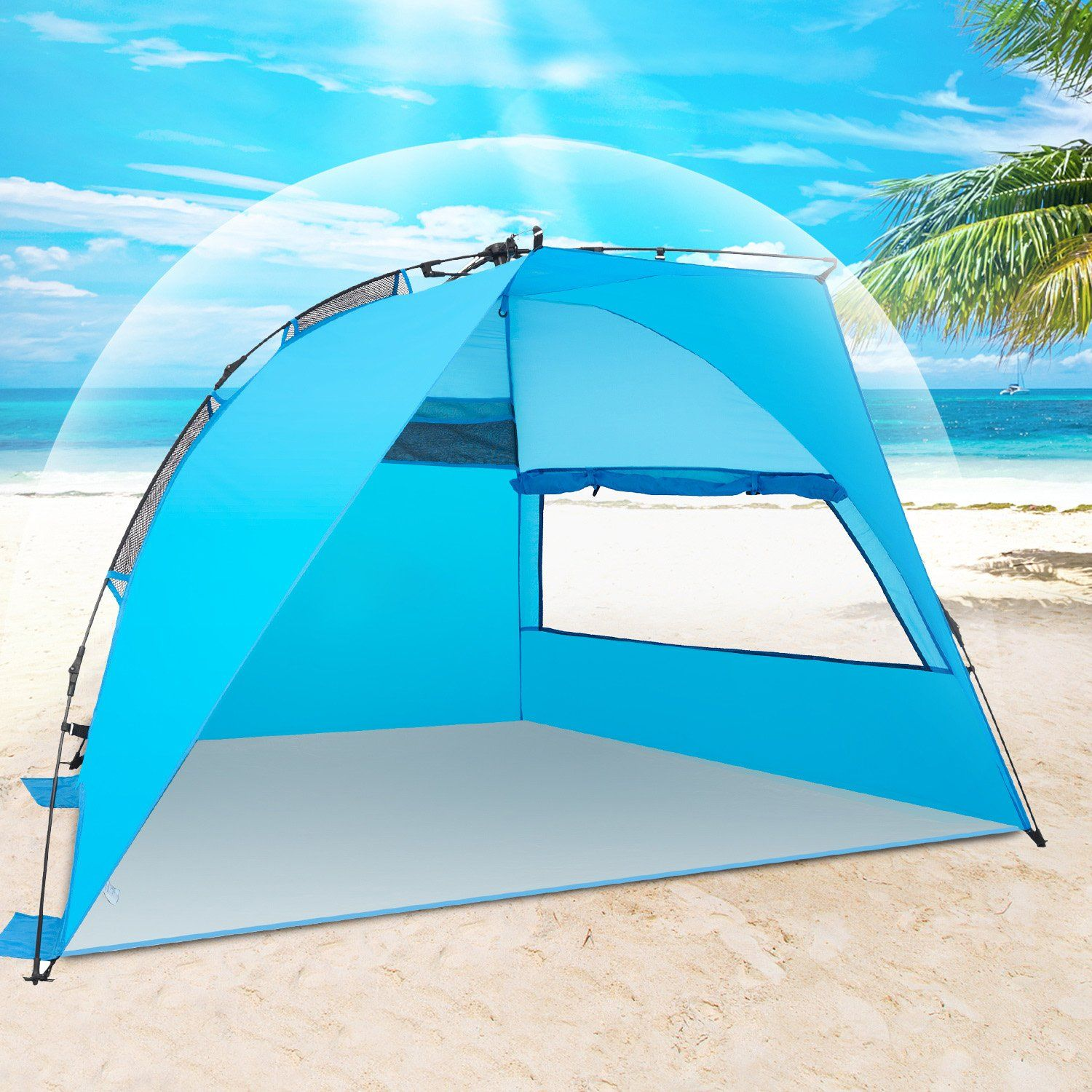 4a0289a8f2d2 Outdoor Camping · Picnics · Amagoing Instant Beach Tent 4 People Tent Sun  Shelter Family Beach Tent for Outdoor Hiking Fishing