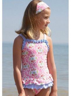 eeb27101f1 Mitty James Pink and Blue Floral Swimsuit. Great English designer. £24.99