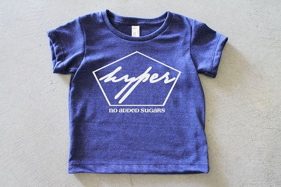 Hyper / Baby and Child Graphic Print Tshirt / Boy or Girl / Size 3m-6T / Cool Baby Clothes / Cool Kid Clothes / Gender Neutral on Etsy, $25.00