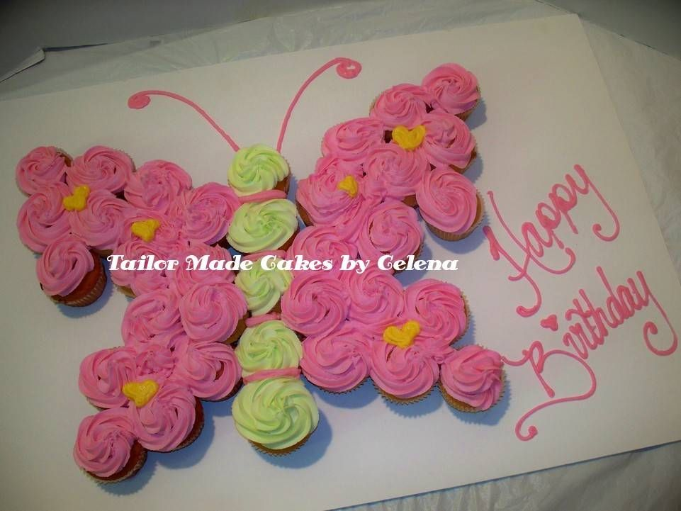 Butterfly Cupcake Cake on Pinterest Monkey Cupcake Cake ...