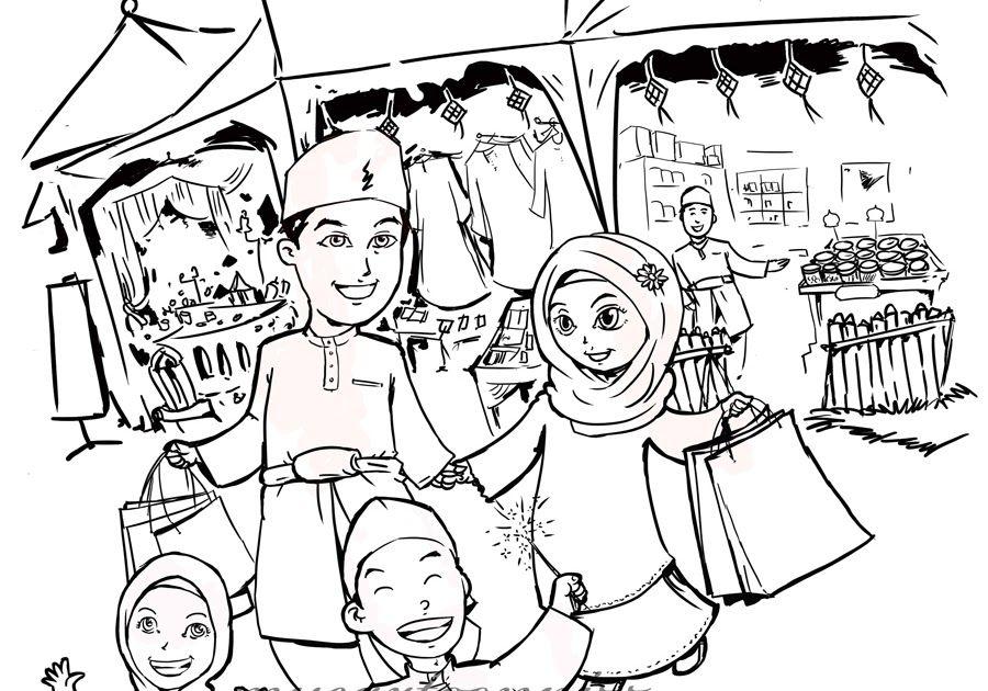 Wow 30 Gambar Kartun Sambutan Hari Raya Aidilfitri Mari