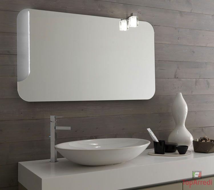 Specchi moderni bagno visual free standing illuminare il bagno con travi in legno inclinati no - Specchi bagno moderni ...