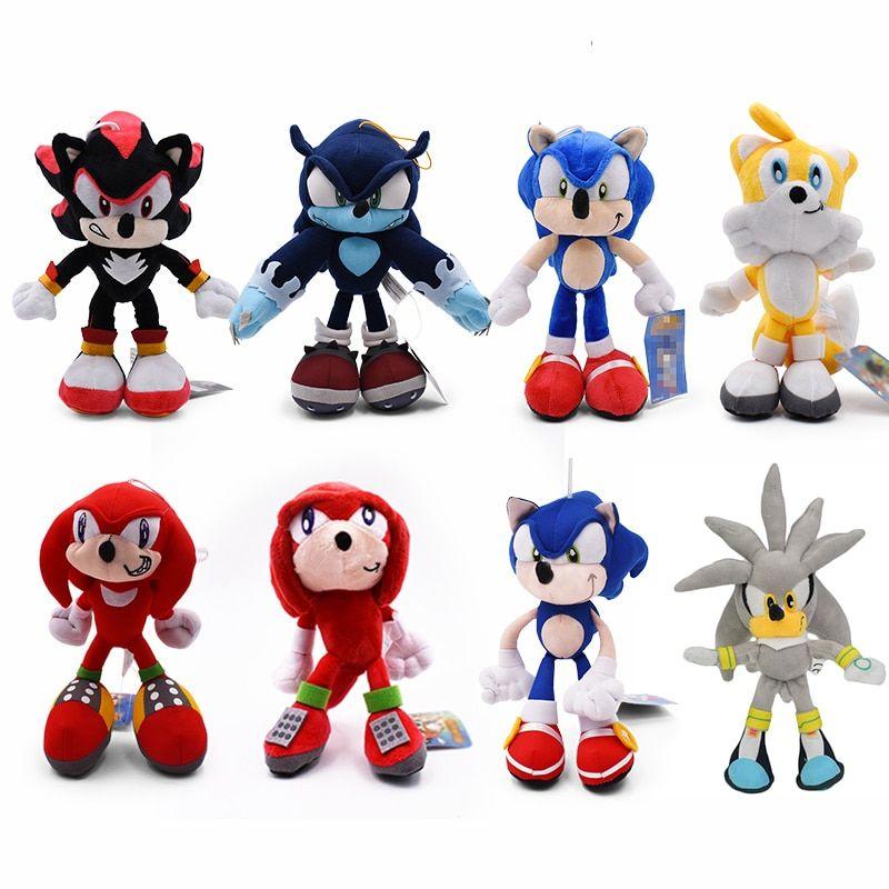 Sonic The Hedgehog Shadow The Hedgehog Plush Toys 26 Cm Sonic Plush Toys Toy Store Silver The Hedgehog
