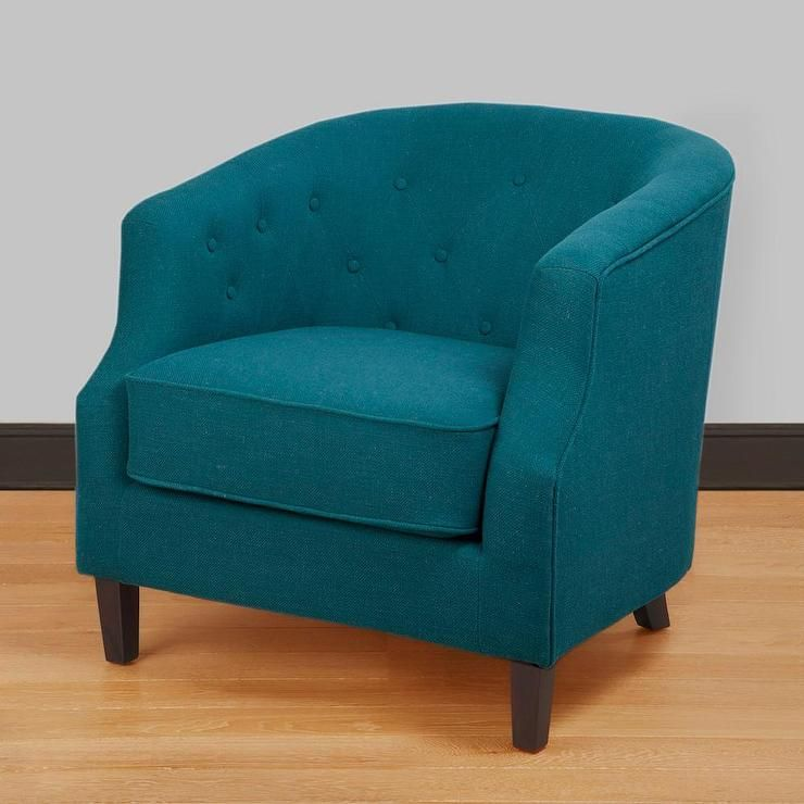 Ansley Peacock Blue Tub Chair Overstock Com Living Room Chairs Tub Chair Teal Chair