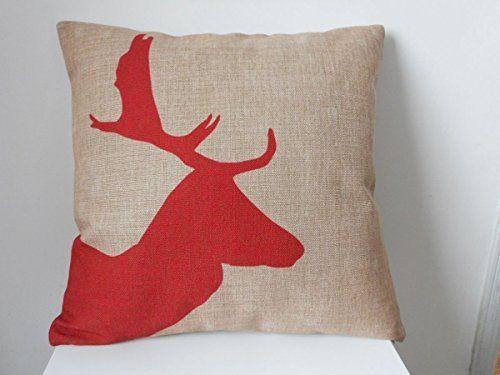 Huirong Pillowcase Design Style Red Christmas Reindeer