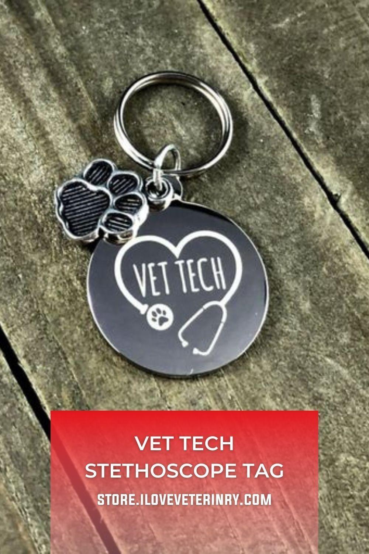 Vet tech Stethoscope tag in 2020 Stethoscope tag, Vet