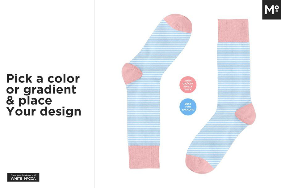 17+ Socks Mockup Template Psd Design Download | Mockup