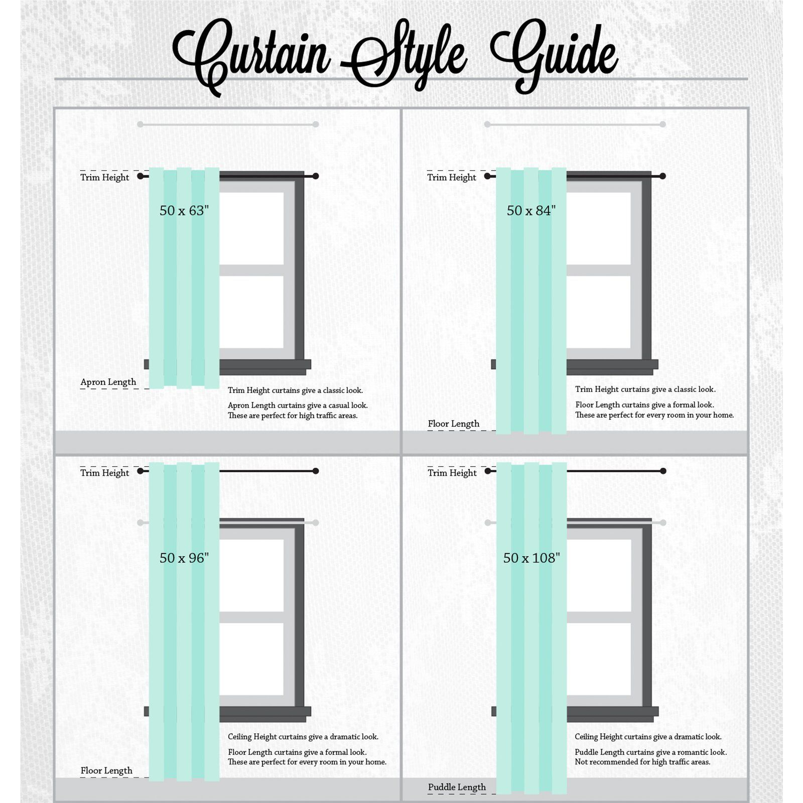 Curtain Length Chart Koskin