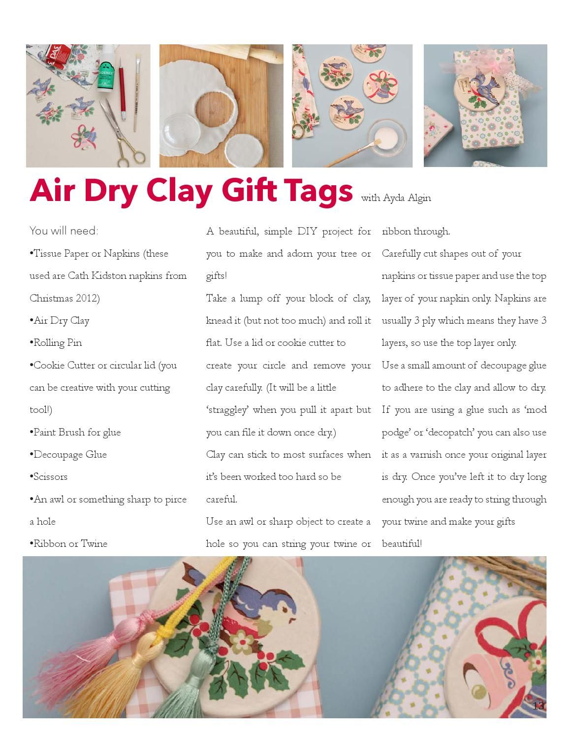 Merry makings issue 1 (With images) Clay gift tags