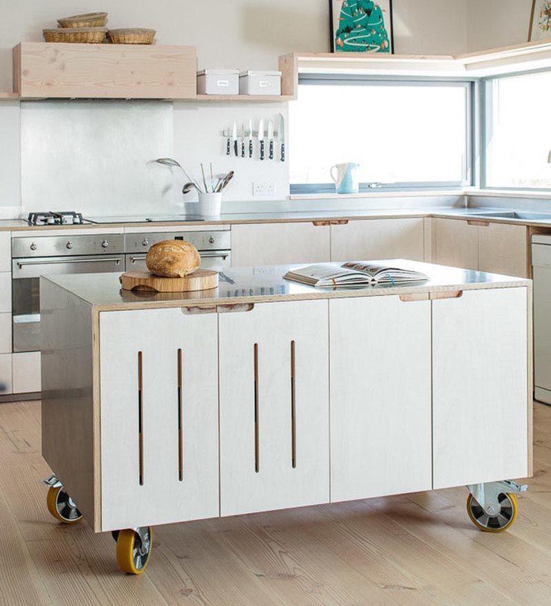 28+ White kitchen island on wheels ideas