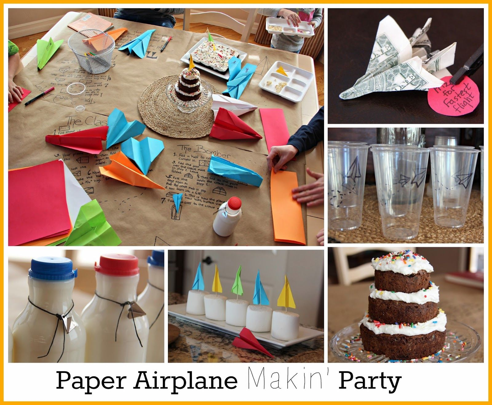 paper airplane party love this idea Parties Boy Ideas