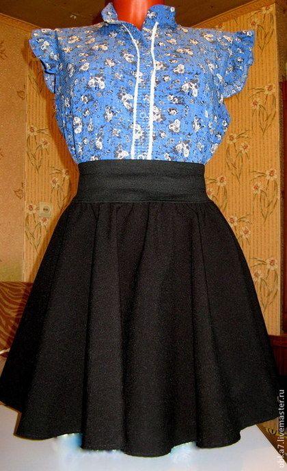 Габардин для юбки полусолнце