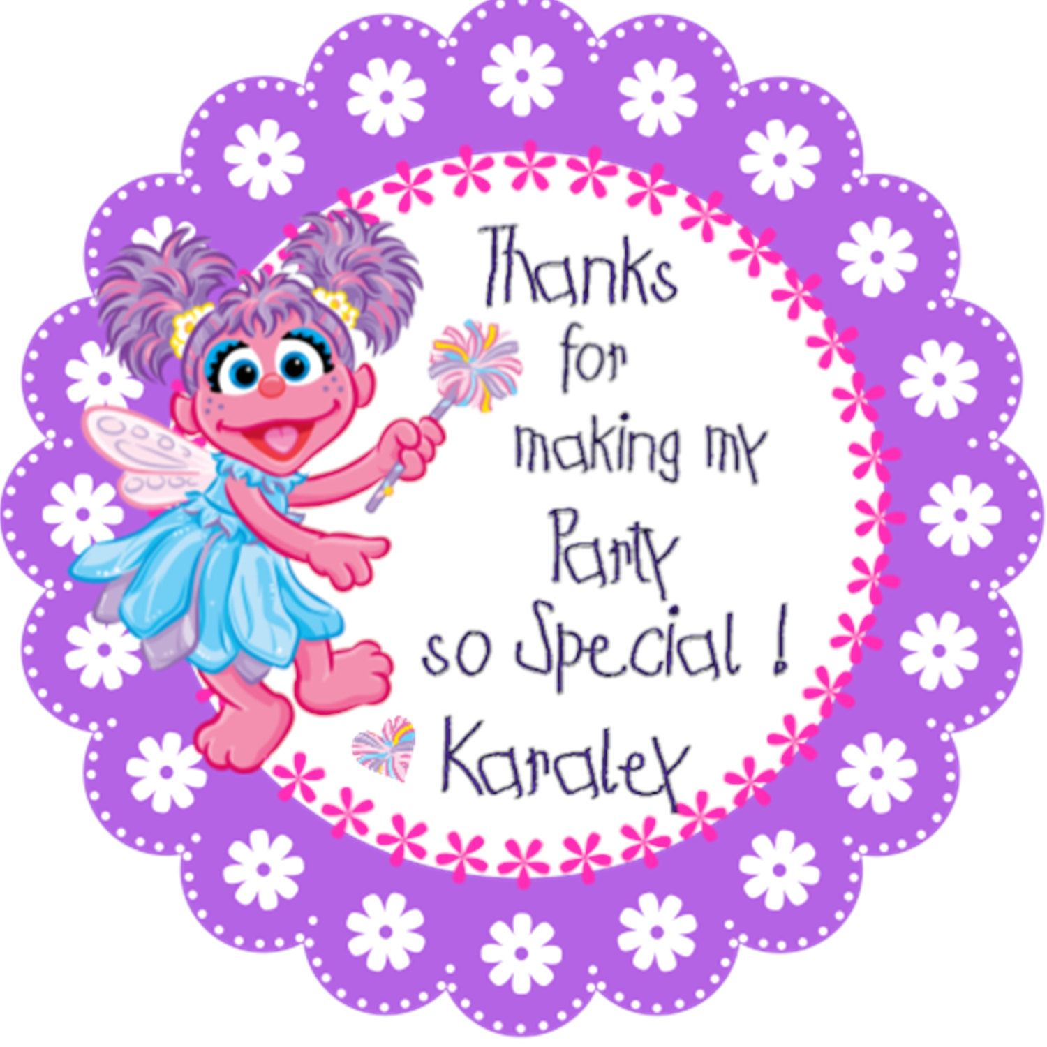 abby cadabby Personalized Stickers Party by MagickalMemories, $5.50 ...