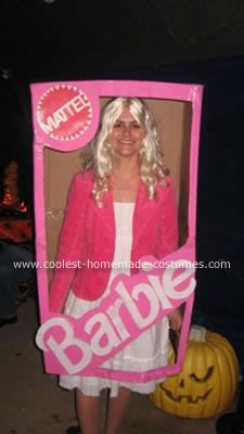 Homemade Barbie in a Box Costume This Homemade Barbie in a Box Costume was homemade  sc 1 st  Pinterest & Cool Barbie in a Box Homemade Costume | Costumes Halloween ideas ...