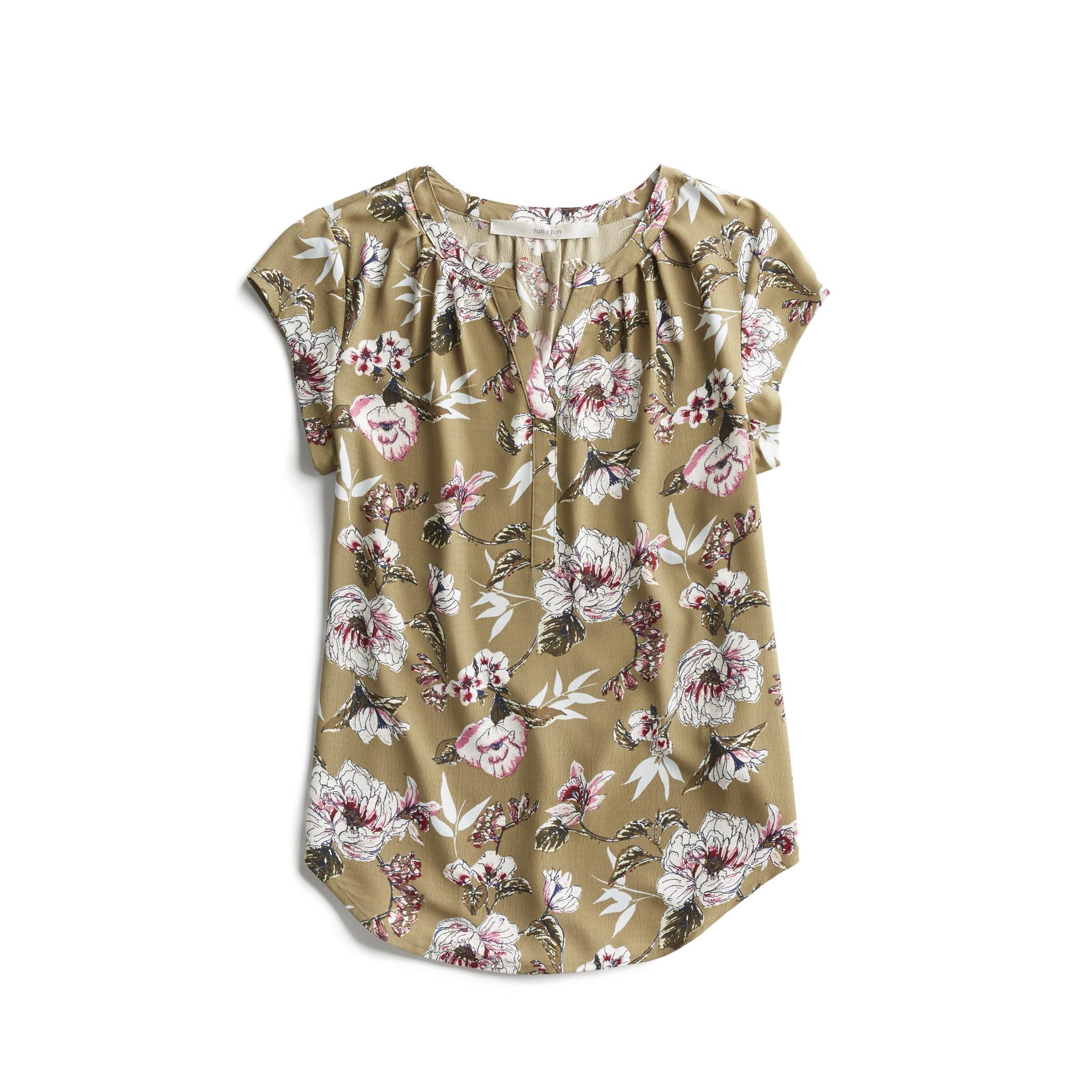 Stitch Fix Spring Stylist Picks Floral Cap Sleeve Blouse