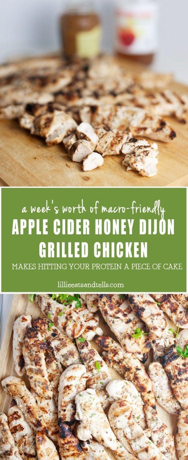 Weekly Bulk Apple Cider Dijon Grilled Chicken #appleciderchicken Weekly Bulk Apple Cider Dijon Grilled Chicken - Lillie Eats and Tells #appleciderchicken