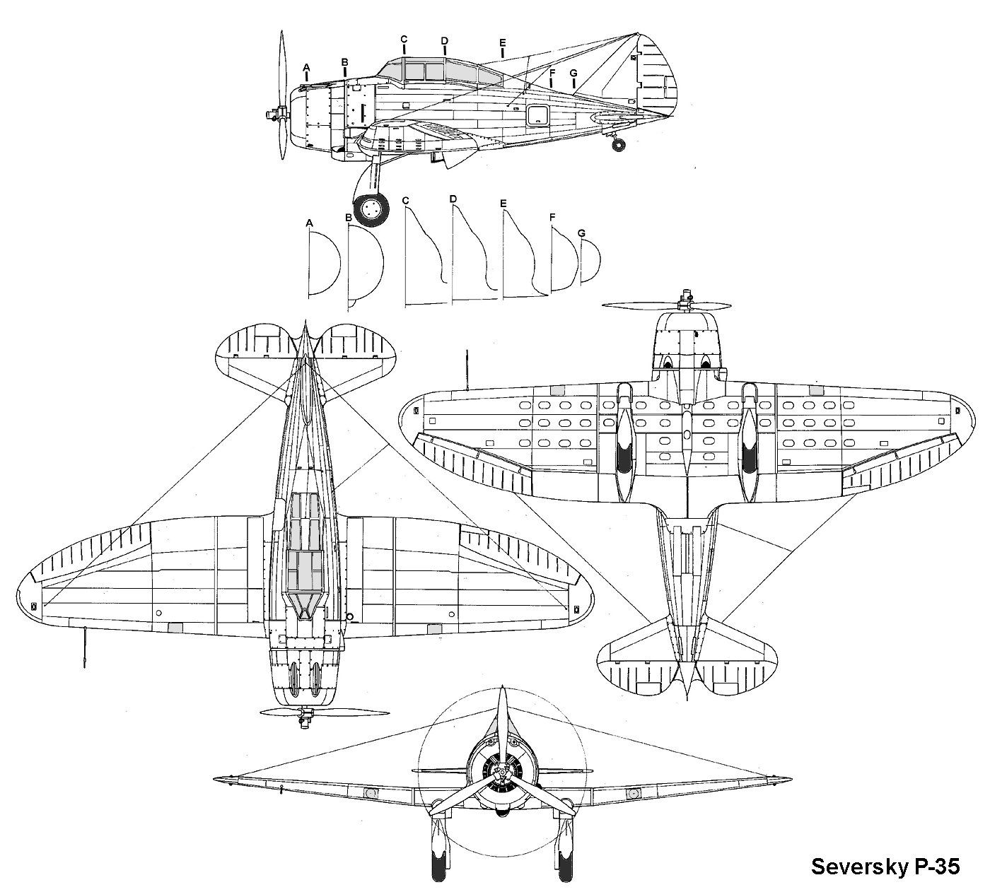 Blueprints Technical Drawing Aviation [ jpg ]