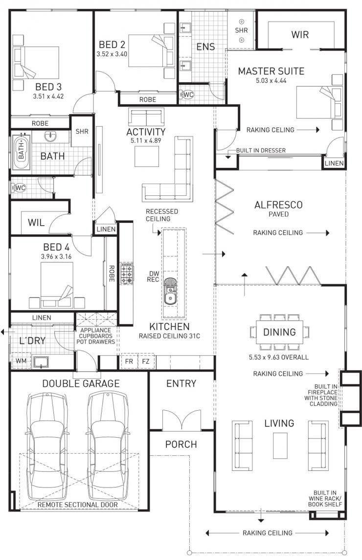 Semillon single storey display floor plan western australia cool house plans dream also rh pinterest