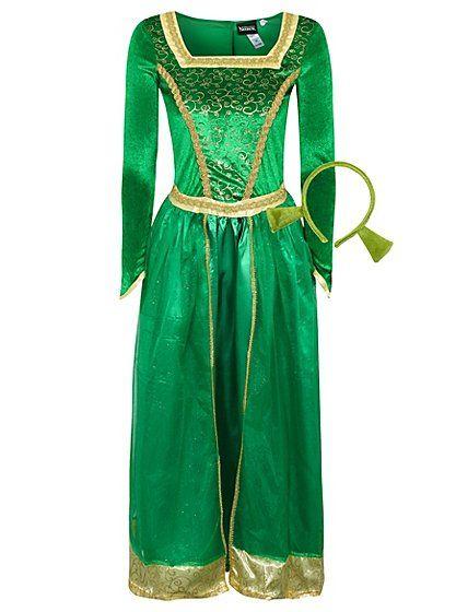 Adult Princess Fiona Shrek Fancy Dress Costume   Women ...