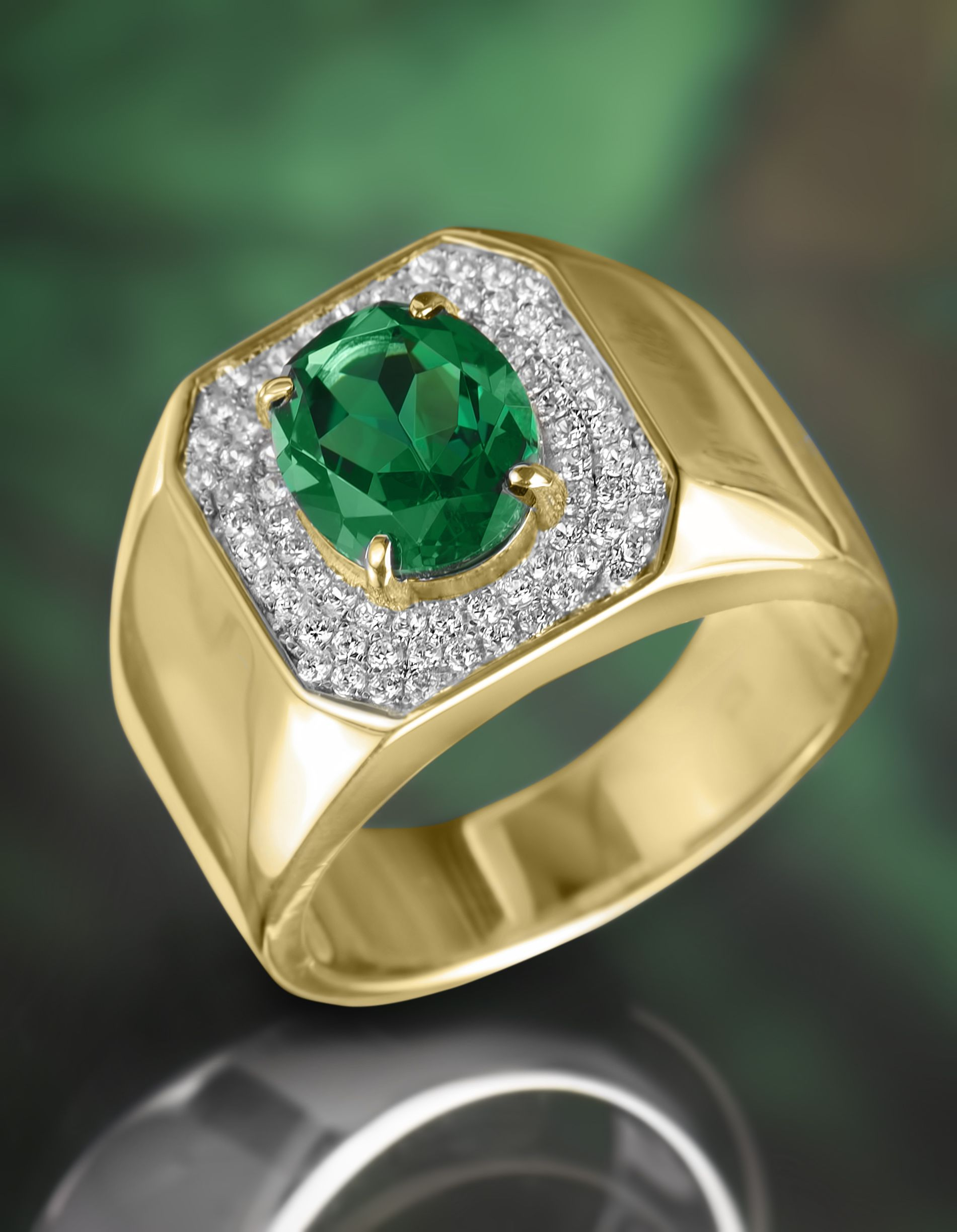mens men miadora ring gold s illusion emerald size pin diamond yellow