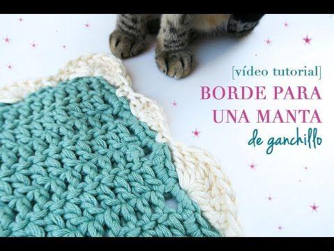 Cómo hacer un borde para manta de ganchillo | Crochet border for ...