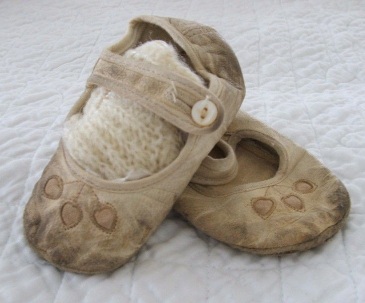 soft old baby shoes