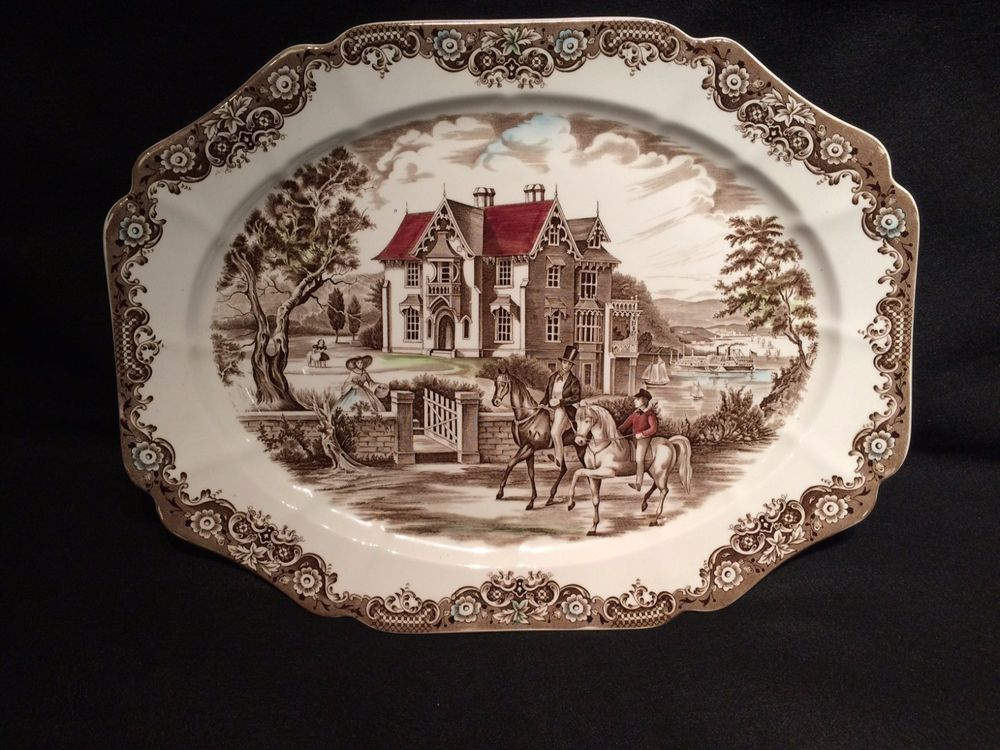 Johnson Brothers Heritage Hall ironstone platter 20 inches mint ...