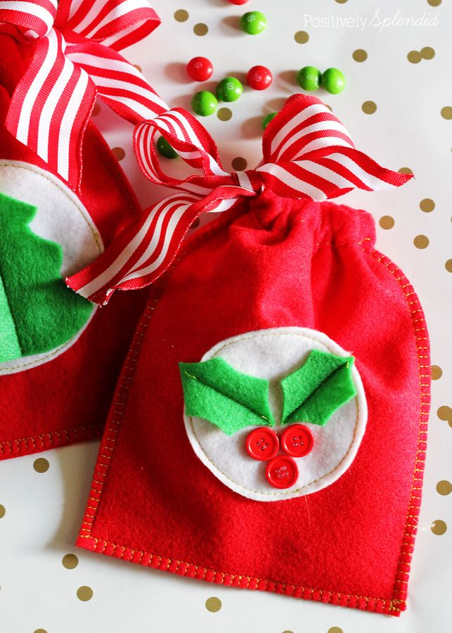 How To Make Reusable Gift Bags Sewing Christmas Gifts Felt Gifts Fabric Gifts