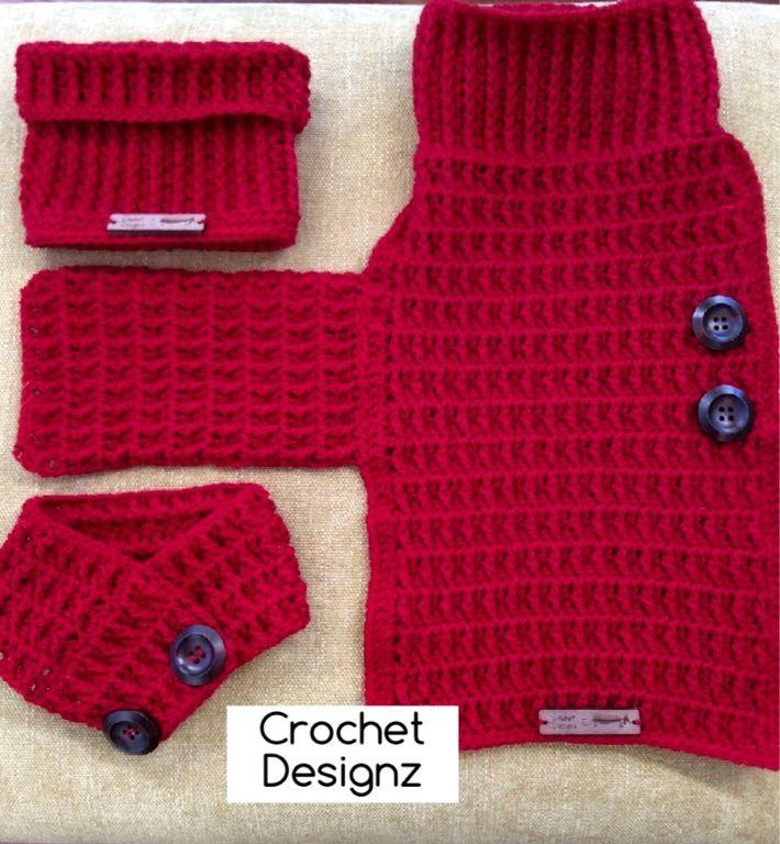 Crochet Dachshund dog coat, snood and bandana   Manualidades ...