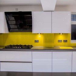 Canary Yellow Splashback By Creogl Design London Uk View More Gl Kitchen Splashbacks And Non Scratch Worktops On Www Co