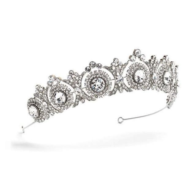 Crystal Rhinestone Bride Headpiece, Tiaras and Crowns #crowntiara