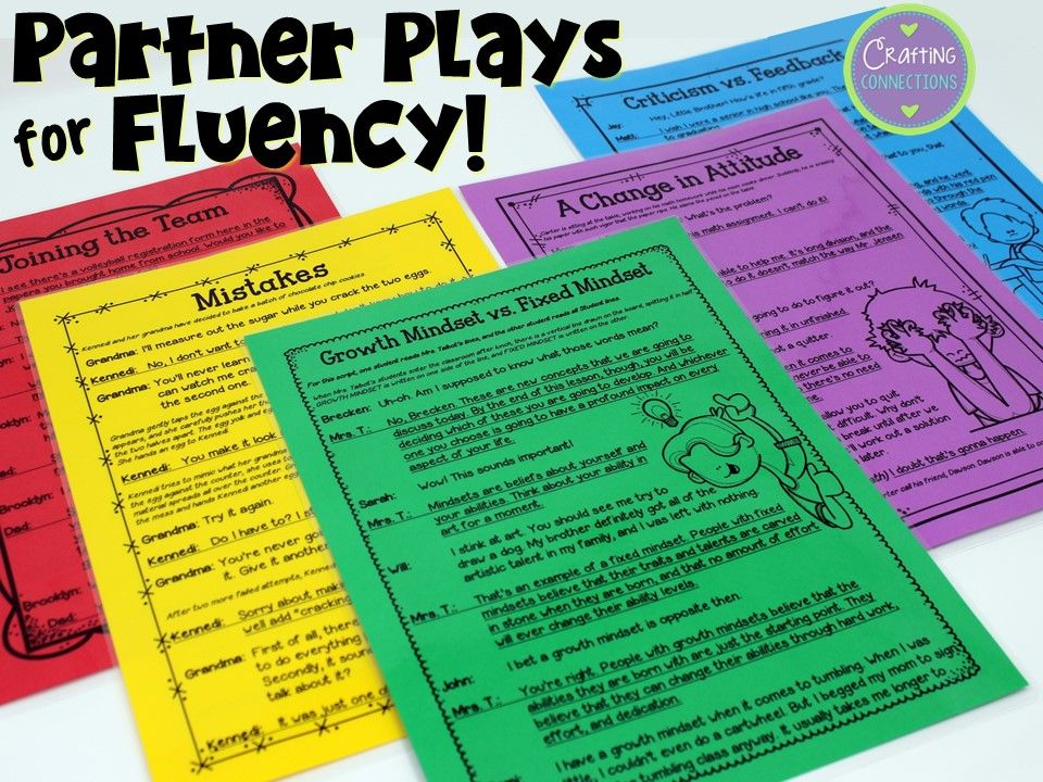 Improving Reading Fluency with Partner Plays Reading