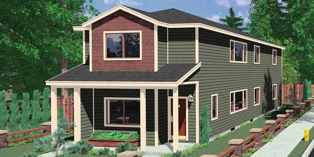 Duplex house plans - Rare Stacked up & down Duplex Design - www ...