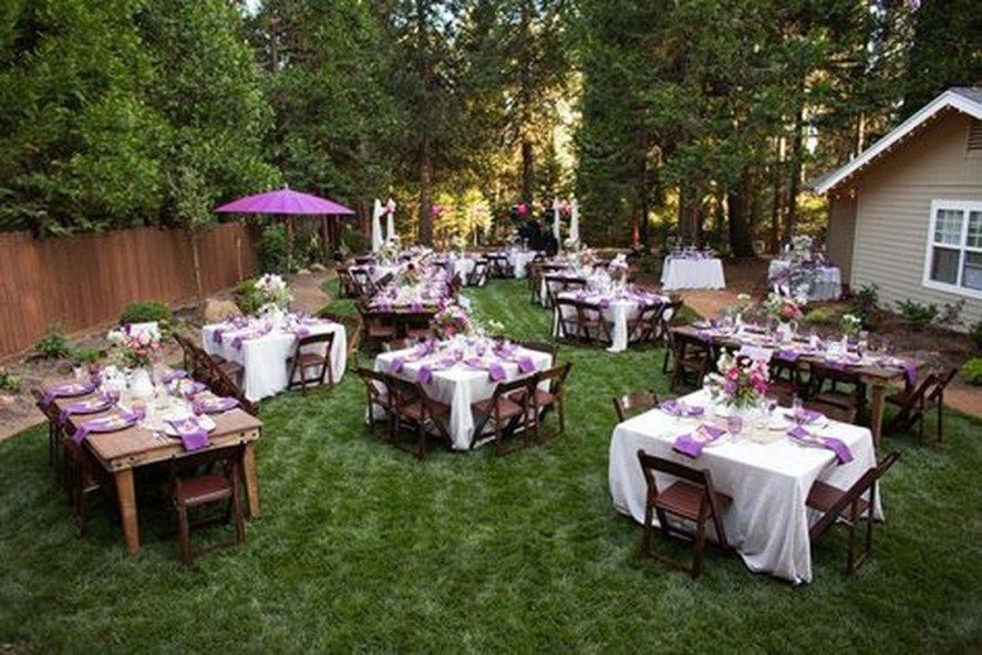 48 Sweet And Romantic Backyard Wedding Decor Ideas ...