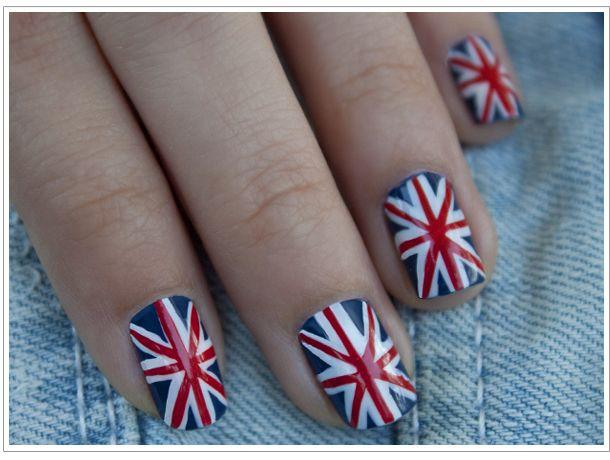 UK flag nails
