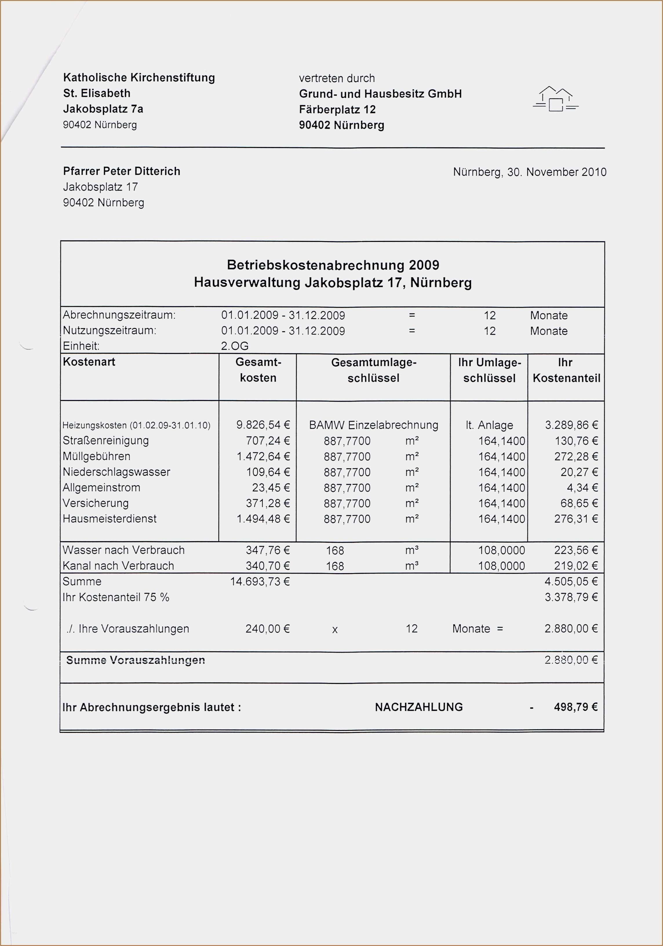 Muster Einer Nebenkostenabrechnung Fur Gewerbe Kostenlos 3