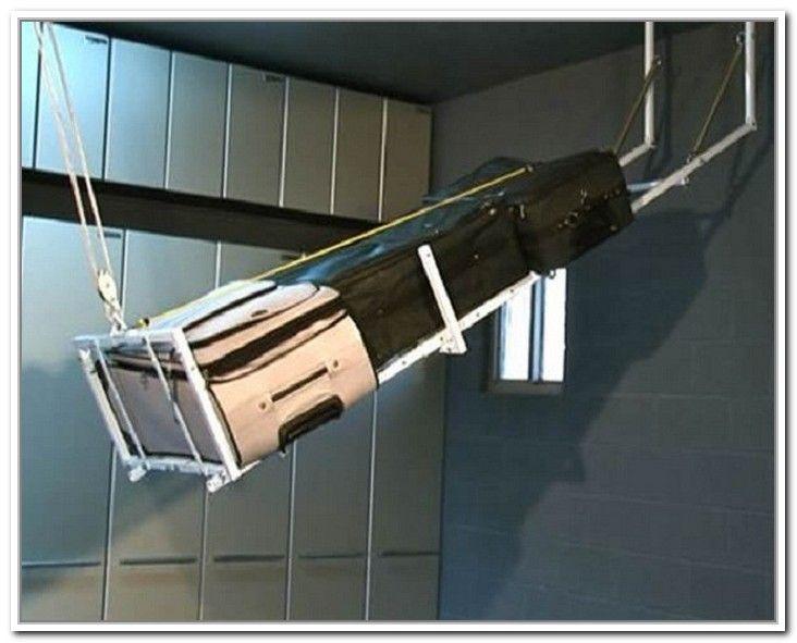 Overhead Garage Storage Systems Pulley … | Diy overhead ...