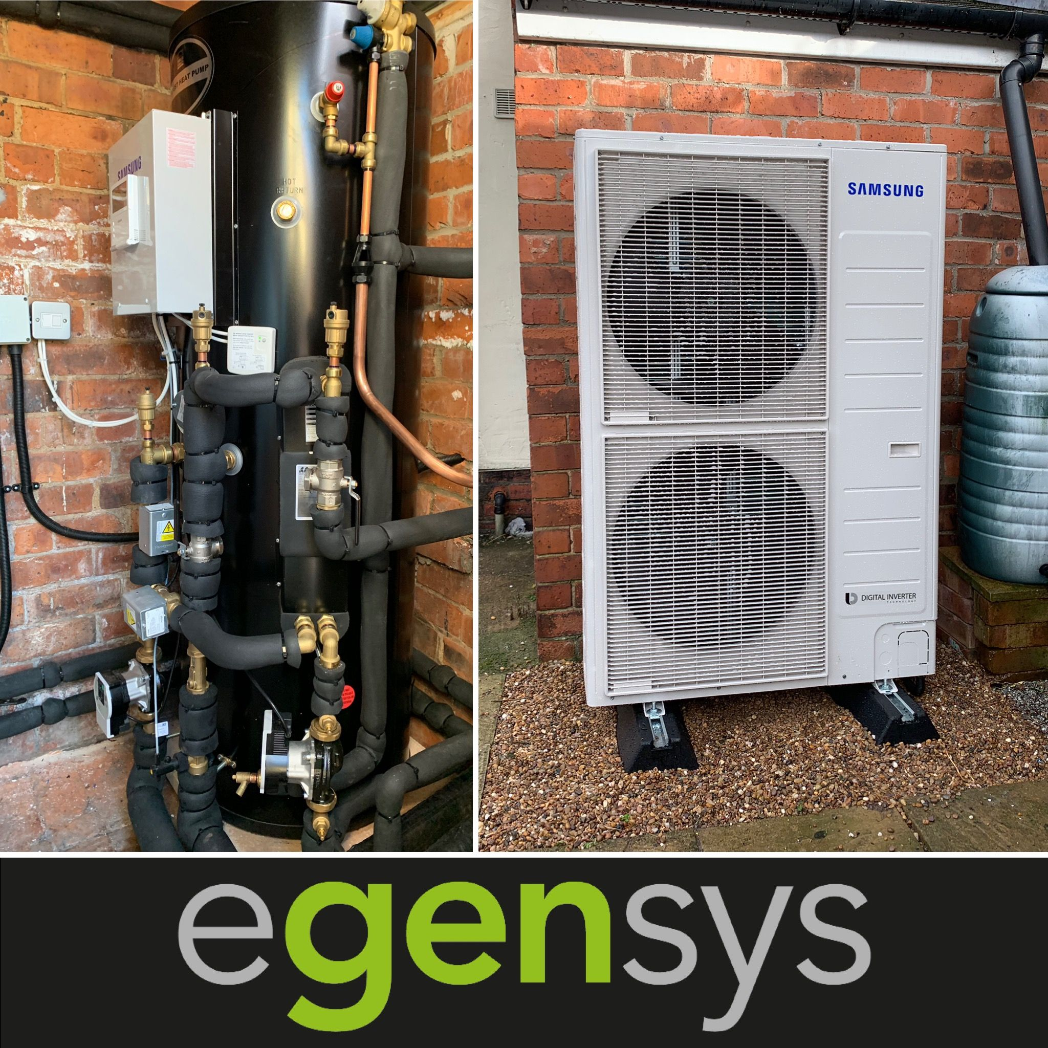 16kW Samsung Air Source Heat pump with 300L pre plumbed