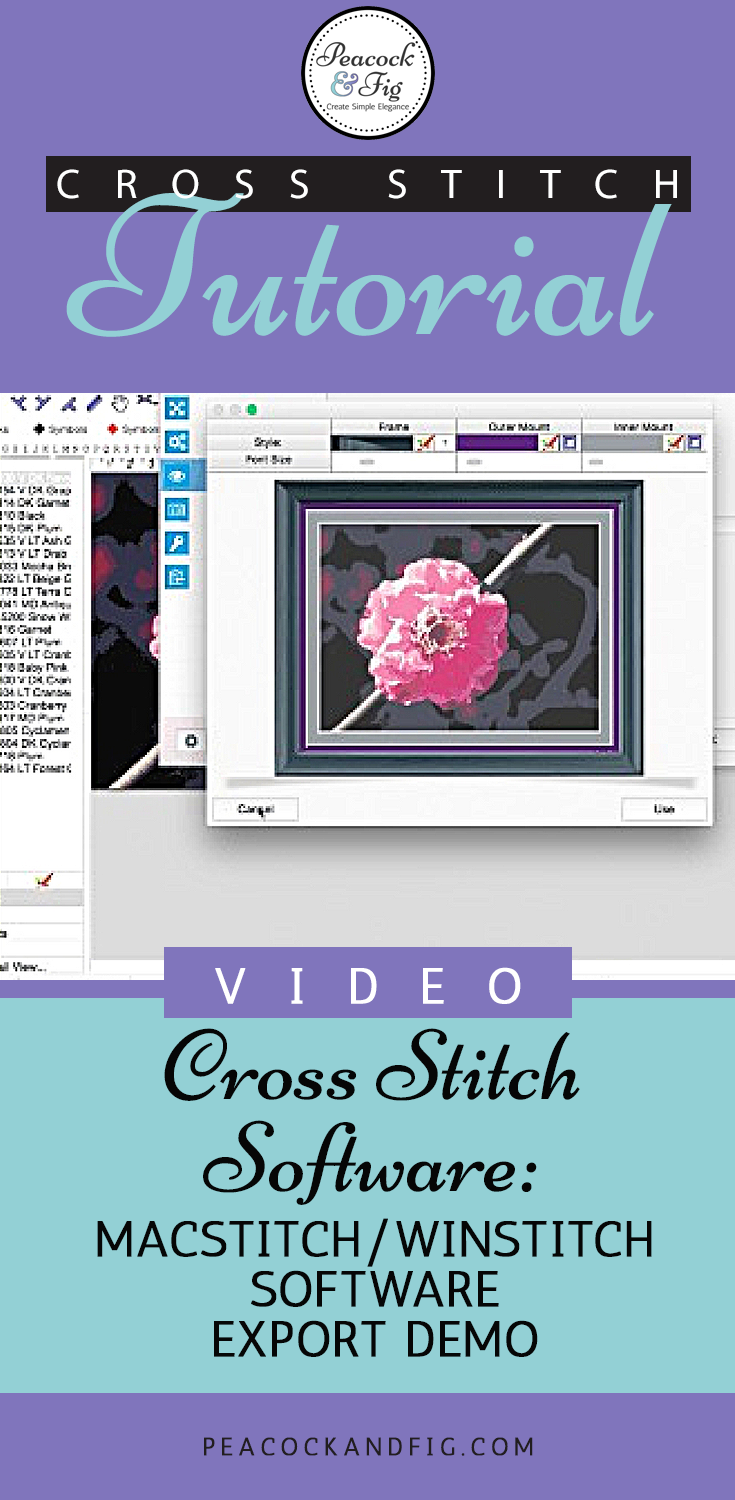 Macstitch Software Pattern Export Demonstration Cross Stitch