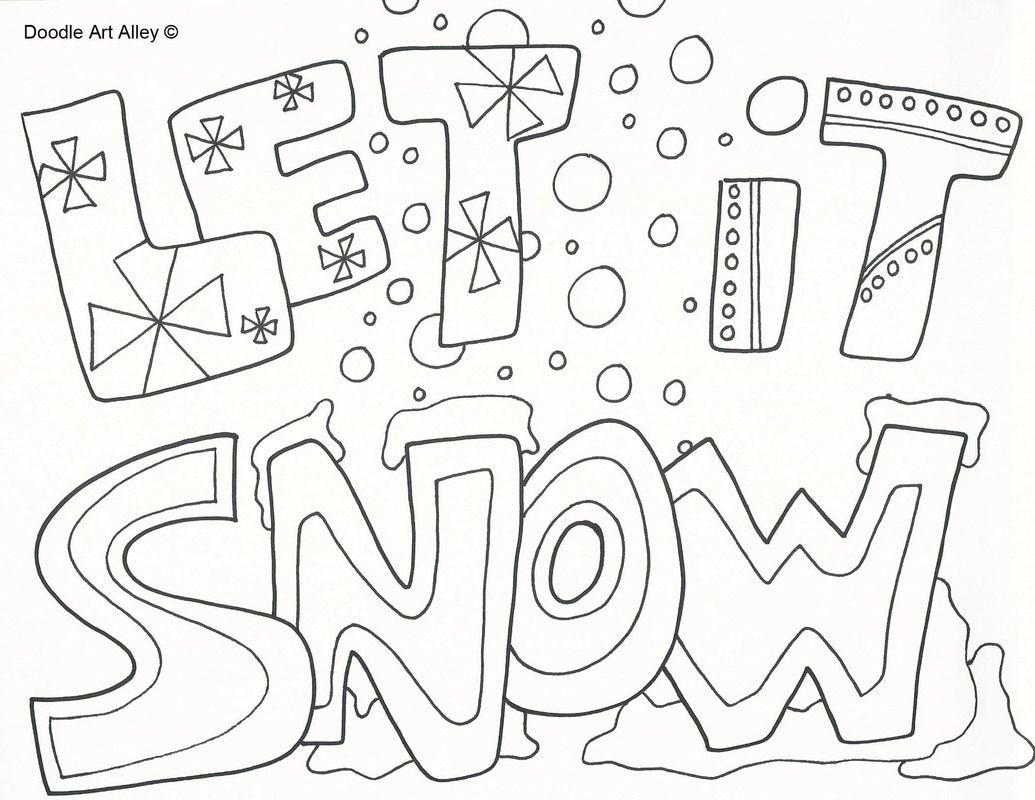 Christmas Coloring Pages Doodle Art Alley Coloring