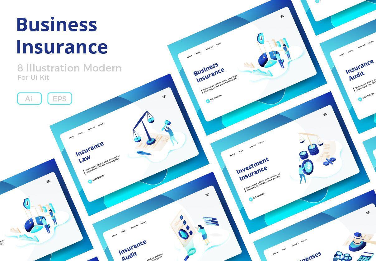 Business Insurance By Twiri Thehungryjpeg Com Insurance Ad
