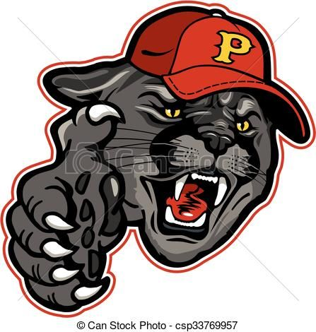 vector panther baseball stock illustration royalty free rh pinterest com