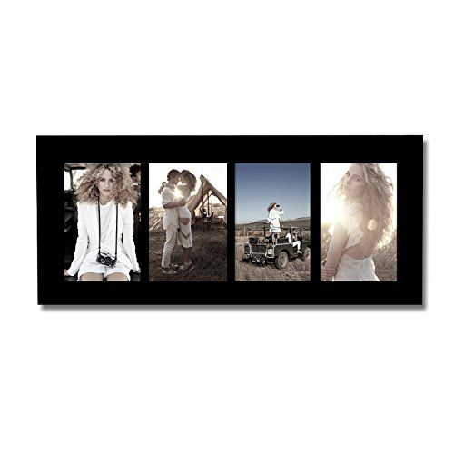 Adeco [PF0422] 4-Opening Black Wood Collage Picture Photo Frames ...