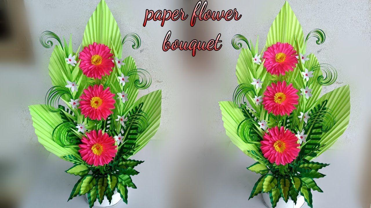 Handmade Florales Flower Bouquet Handmade Paper Flower Bouquet