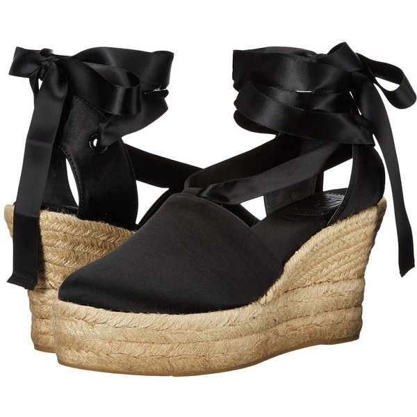 2427bb071b37 Tory Burch Elisa 90mm Wedge Espadrille (Black) Women s Wedge Shoes ( 328) ❤