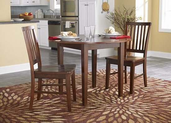 versatile 2 chair, drop leaf table - clanton collection dining