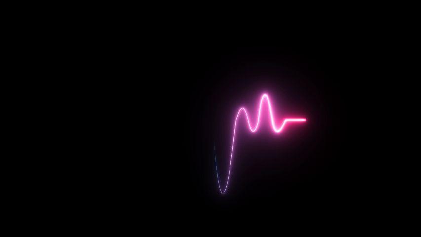 Neon Heart Beat Line Symbol Stock Footage Video (100% Royalty-free) 1045972303   Shutterstock